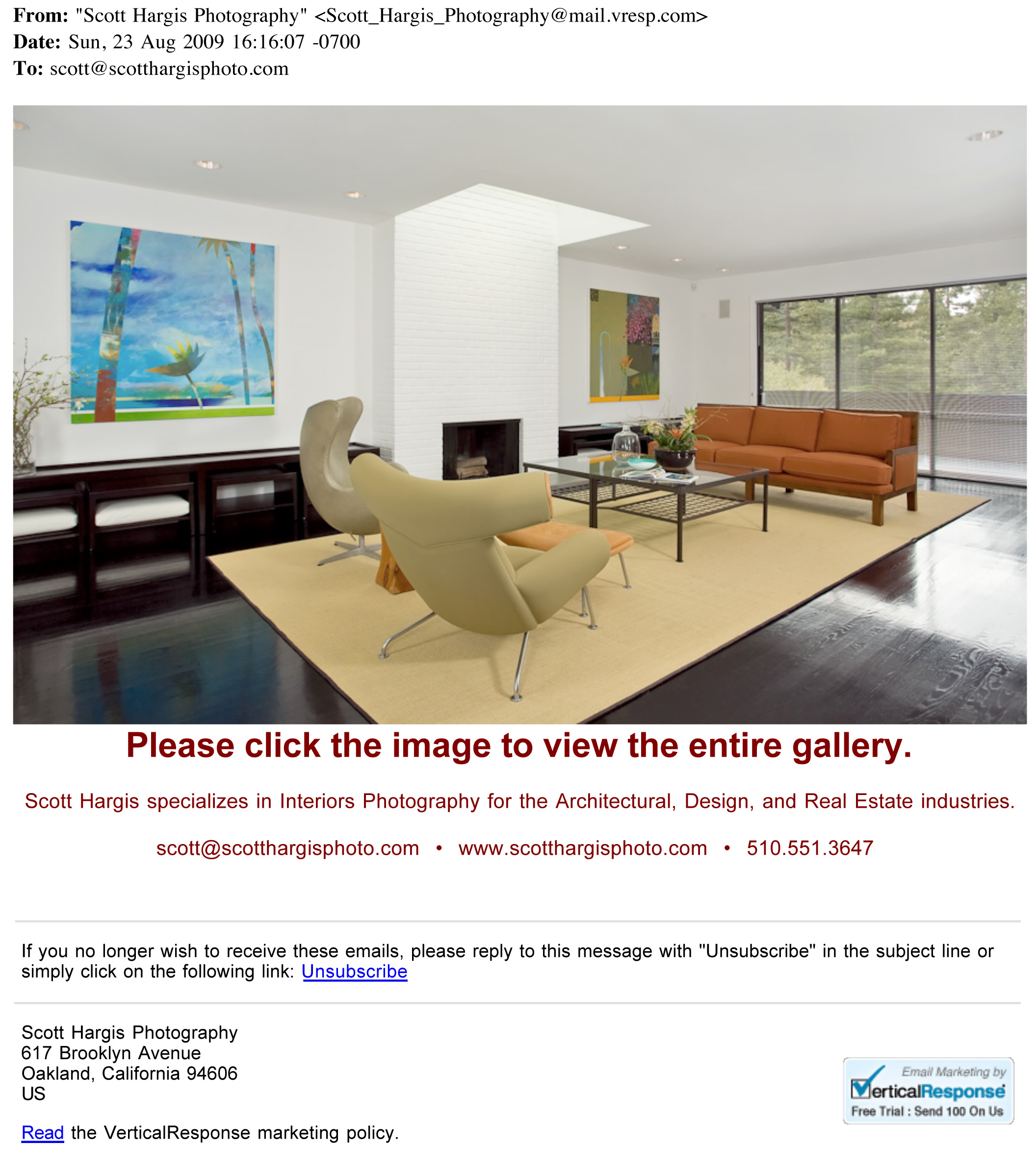 Test Message - HTML Format_New Work from Scott Hargis Photograph