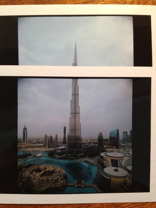Polaroid test of Burj Khalifa
